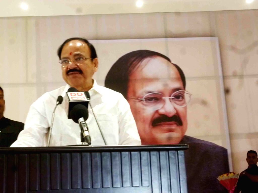 Union Minister for Urban Development, Housing & Urban Poverty Alleviation and Information & Broadcasting M Venkaiah Naidu addresses at the Meet and Greet programme, organised by ... - M Venkaiah Naidu