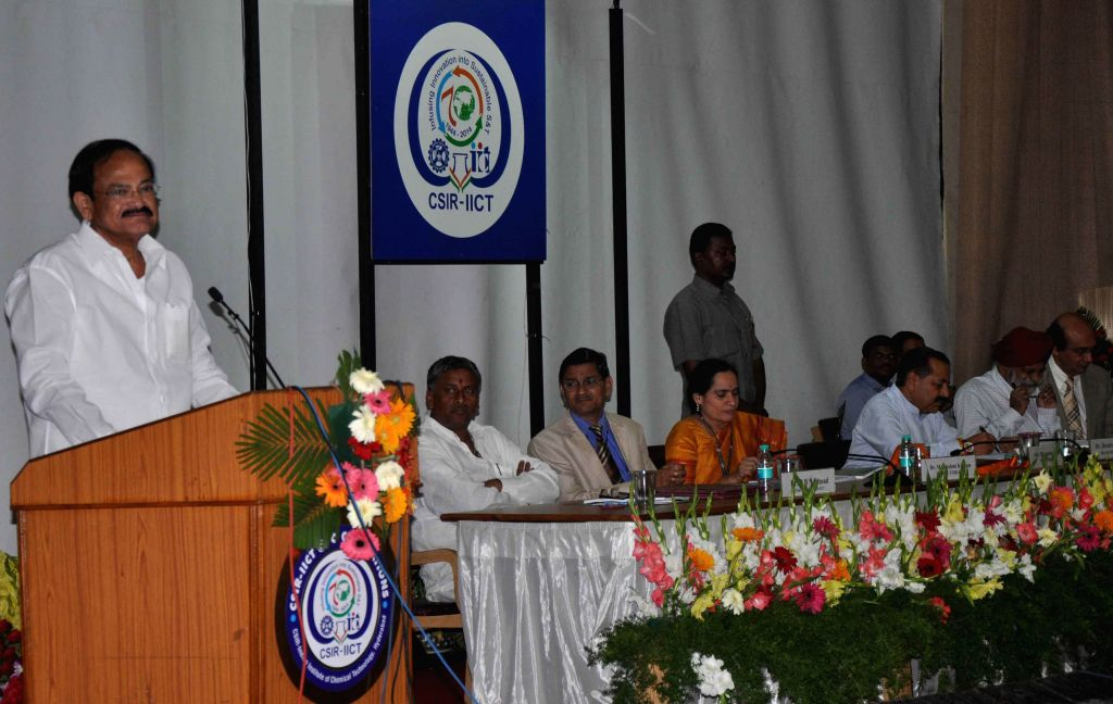 Union Minister for Urban Development, Housing and Urban Poverty Alleviation and Parliamentary Affairs M. Venkaiah Naidu addresses during 70 years celebrations of CSIR-IICT in Hyderabad on Aug 21, ... - M. Venkaiah Naidu