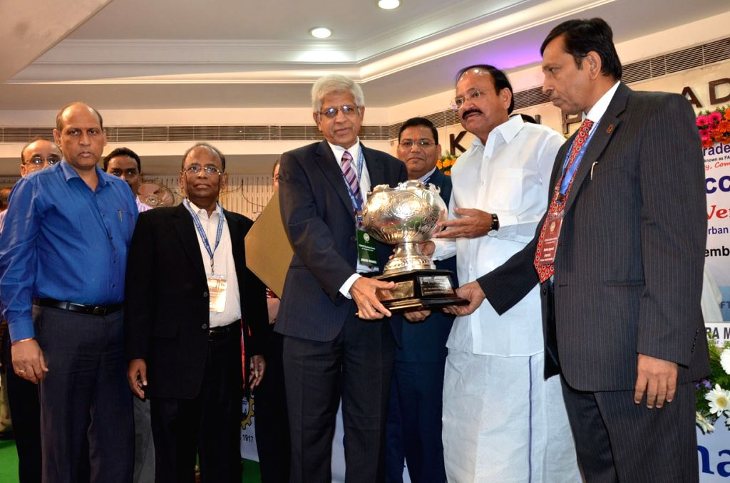 Union Minister for Urban Development, Housing and Urban Poverty Alleviation and Parliamentary Affairs M. Venkaiah Naidu during a Federation of Telangana and Andhra Pradesh Chambers of ... - M. Venkaiah Naidu