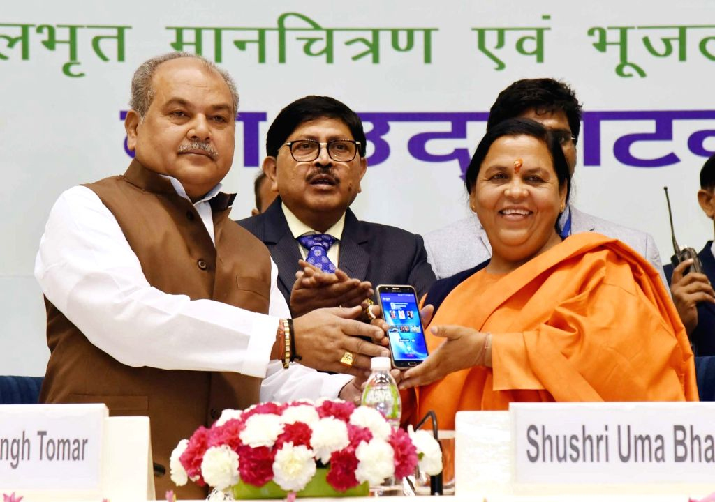 Union Minister for Water Resources, River Development and Ganga Rejuvenation, Uma Bharti and the Union Minister for Rural Development, Panchayati Raj, Drinking Water and Sanitation ... - Narendra Singh Tomar