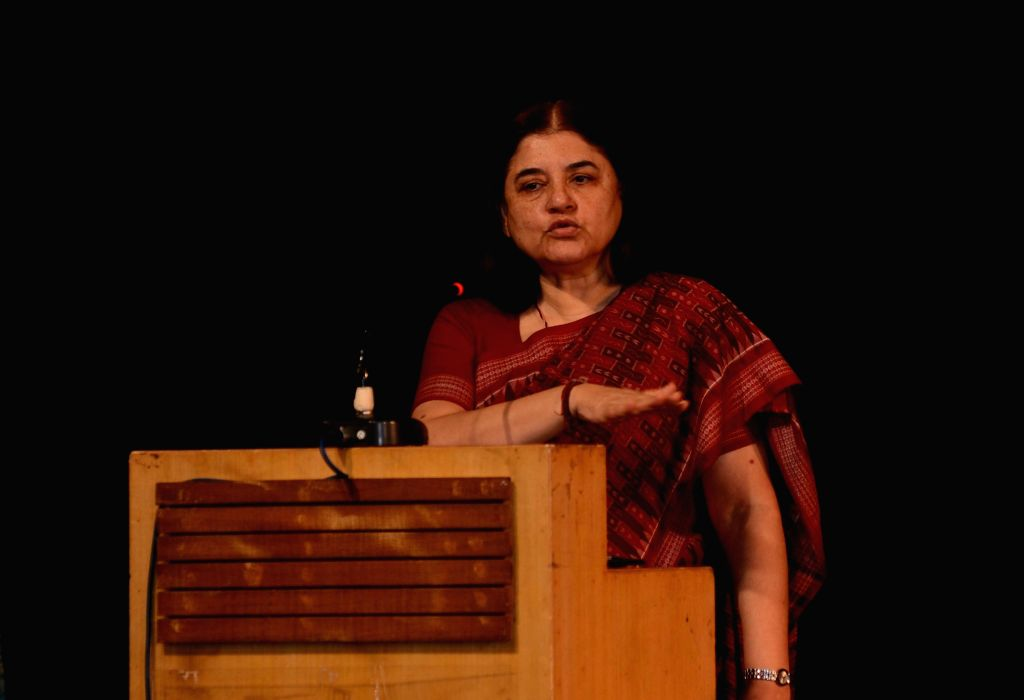 """Union Minister for Woman and Child Development and People for Animals (PFA) chairman Maneka Gandhi addressing a program on """"Street Dogs: Manace or Friends"""" in Kolkata on May 13, ... - Maneka Gandhi"""