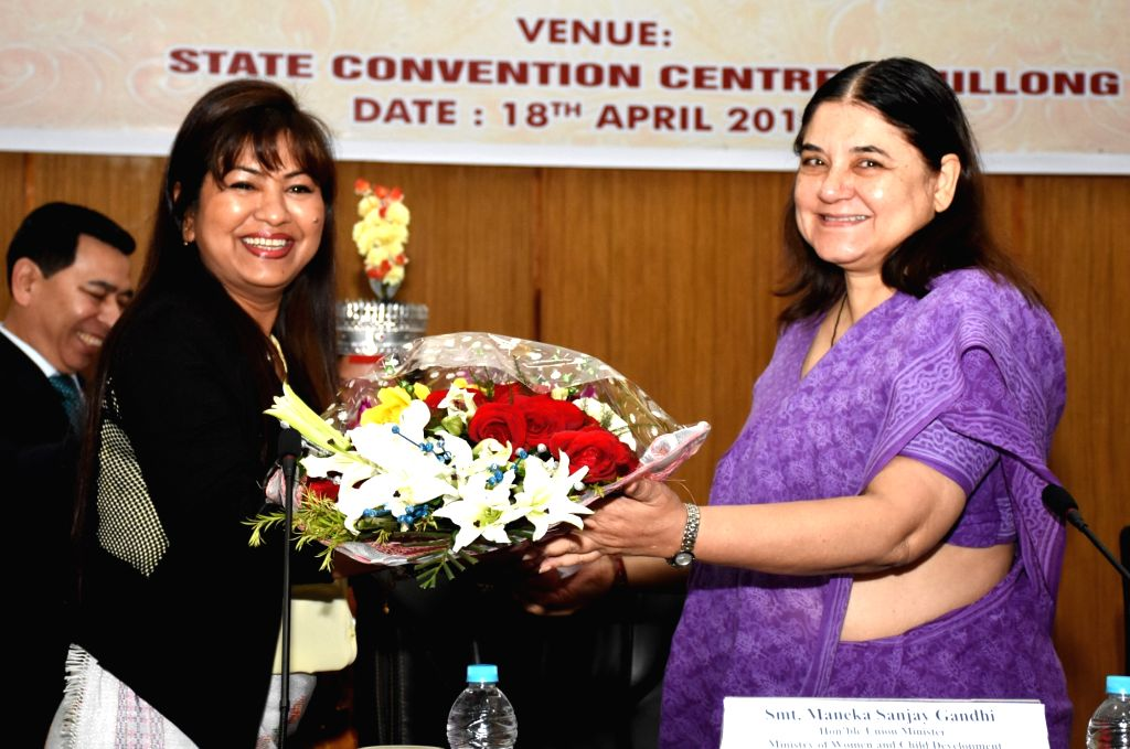 Union Minister for Women and Child Development Maneka Gandhi being felicitated at the inauguration of the Regional Conference of North-Eastern States on Child Adoption, organised by the ... - Development Maneka Gandhi