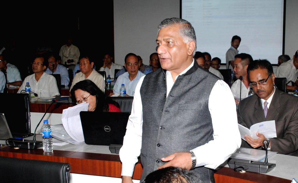 Union Minister of Development of North Eastern Region (Independent Charge) General (retd) V.K. Singh during the Conference of Chief Ministers of North-Eastern States in Guwahati on Aug 21, 2014. - K. Singh