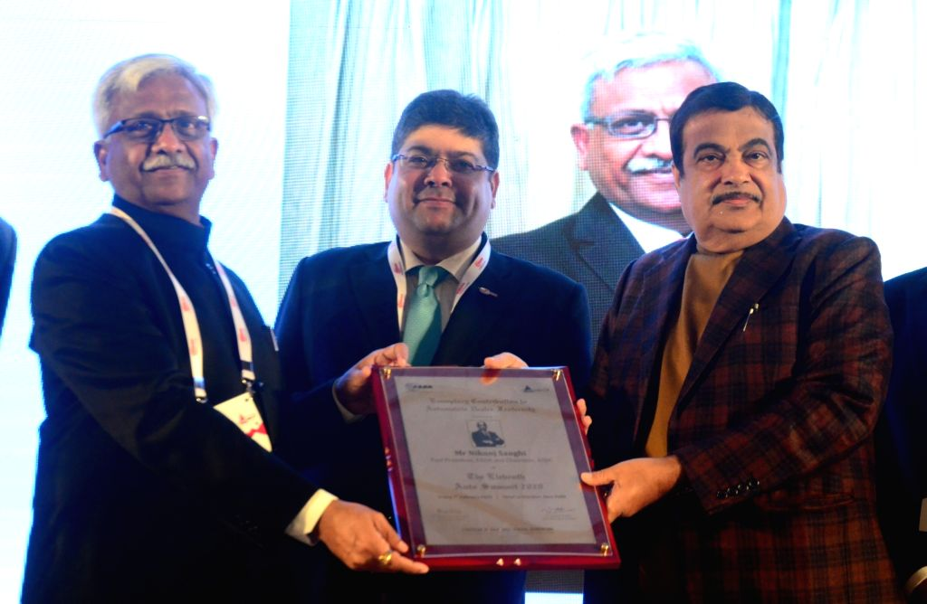 Union Minister of Road Transport and Highways Nitin Gadkari during the 11th Auto Summit 2020, in New Delhi on Feb 7, 2020.