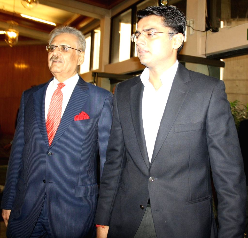 Union Minister of State for Corporate Affairs Sachin Pilot and ITC Chairman Y C Deveshwar at the Sustainability Awards 2013 organised by CII and ITC in New Delhi on Dec.20, 2013.