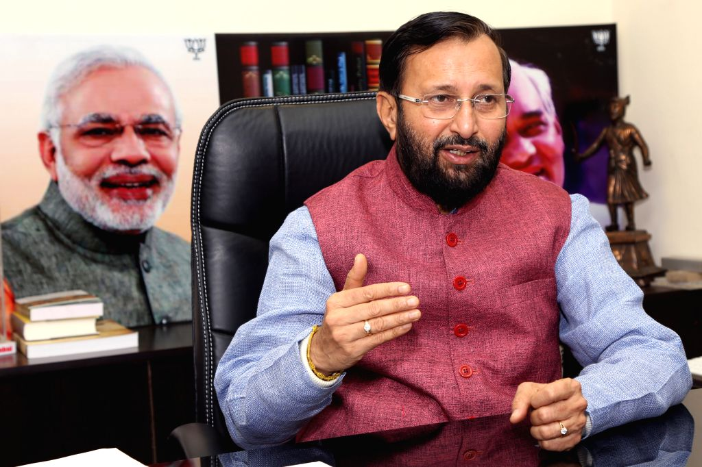 Union Minister of State for Environment, Forests & Climate Change,Prakash Javadekar, during an interview with IANS, in New Delhi on Nov 24,2015.