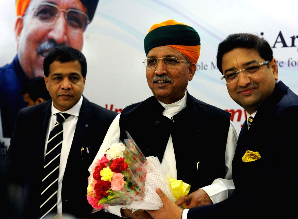 Union Minister of State for Finance and Corporate Affairs Arjun Ram Meghwal during a MCCI programme in Kolkata, on Sept 18, 2016.