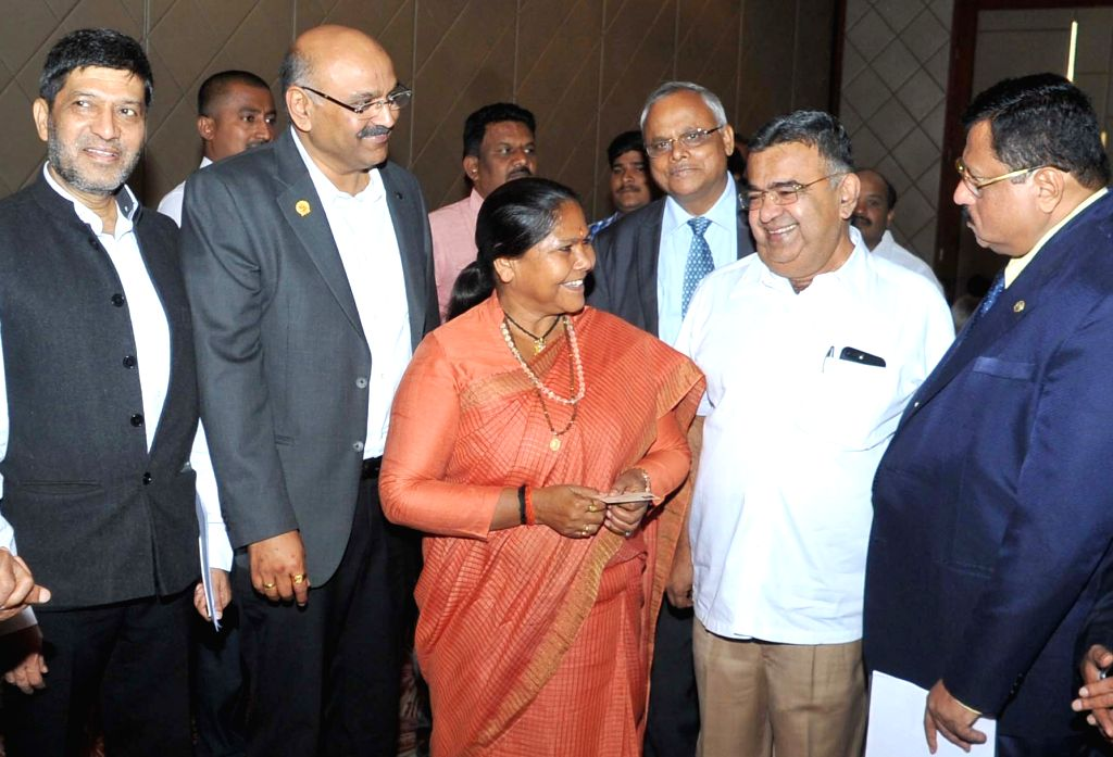 "Union Minister of State for Food Processing Sadhvi Niranjan Jyot during inauguration of national conference on ""Strengthening Backward Linkages in Food Processing"" in Bengaluru ..."