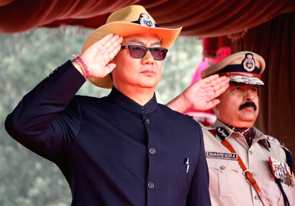Union Minister of State for Home Affairs Kiren Rijiju during the 48th CISF Day Parade in Ghaziabad, on March 10, 2017.