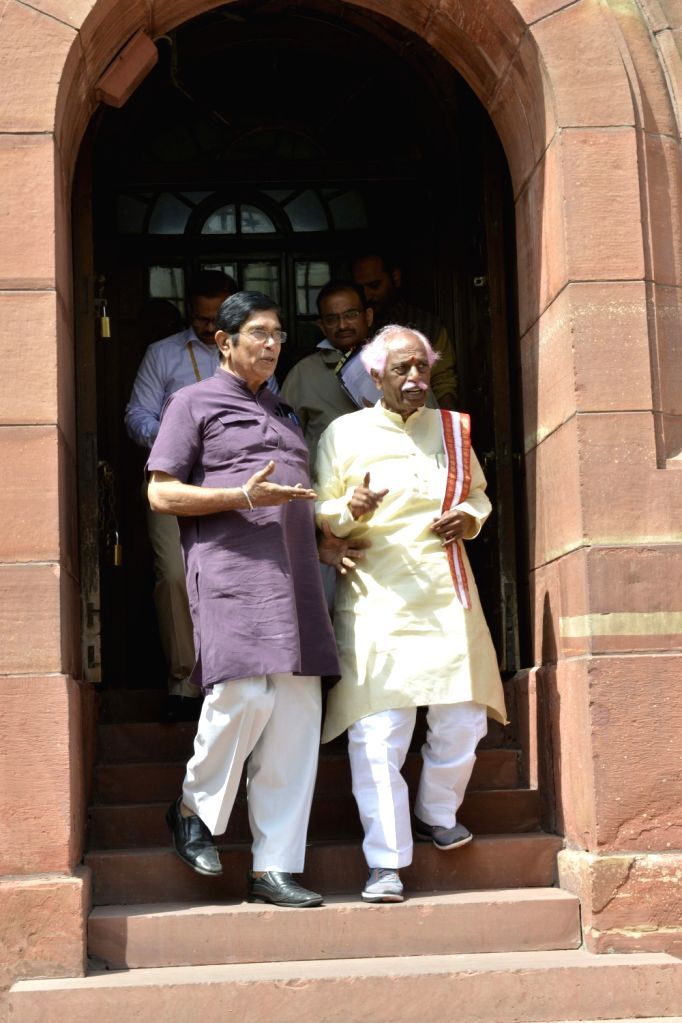 Union Minister of State for Labour and Employment (Independent Charge) Bandaru Dattatreya at Parliament in New Delhi on Feb 15, 2017.