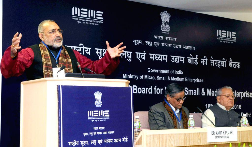 Union Minister of State for Micro, Small & Medium Enterprises  Giriraj Singh addresses the 13th Meeting of the National Board for Micro, Small & Medium Enterprises, in New Delhi on ... - Giriraj Singh and Enterprises Kalraj Mishra