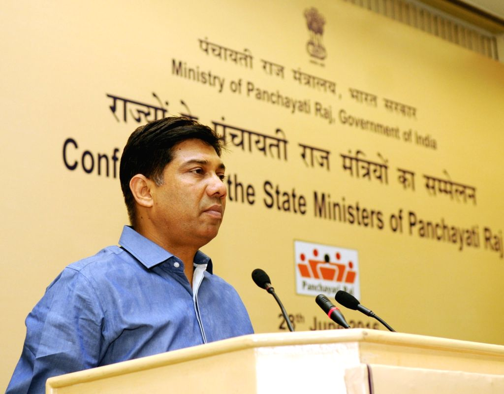 Union Minister of State for Panchayati Raj Nihalchand addresses the National Conference of the State Panchayati Raj Ministers, in New Delhi on June 28, 2016. (Photo: IANS/PIB)​ ​