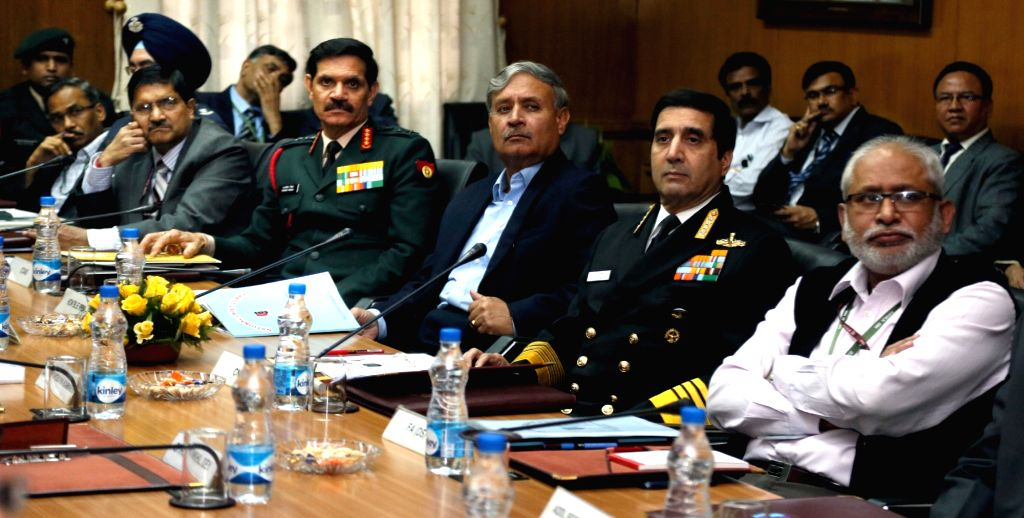 Union Minister of State for Planning (Independent Charge) and Defence, Shri Rao Inderjit Singh, the Chief of Army Staff, General Dalbir Singh, the Chief of Naval Staff, Admiral R K Dhowan ... - Dalbir Singh