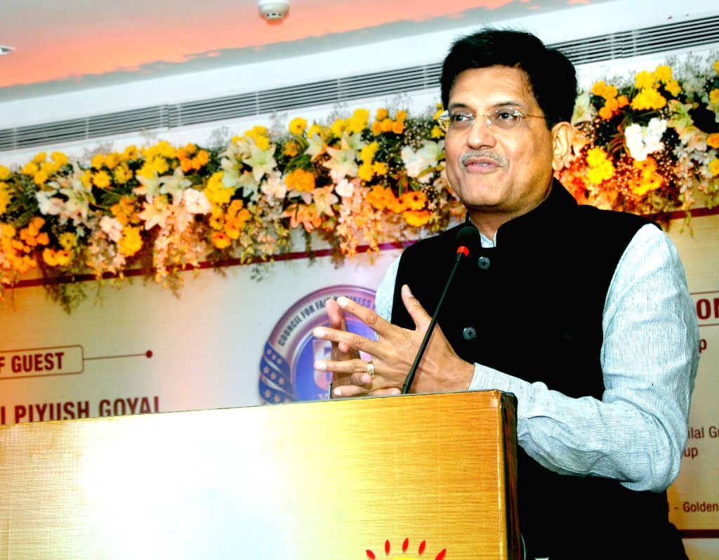 Union Minister of State for Power, Coal, New and Renewable Energy and Mines  Piyush Goyal addresses at the Golden Jubilee function of the Council of Fair Business Practices (CFBP), in Mumbai ...