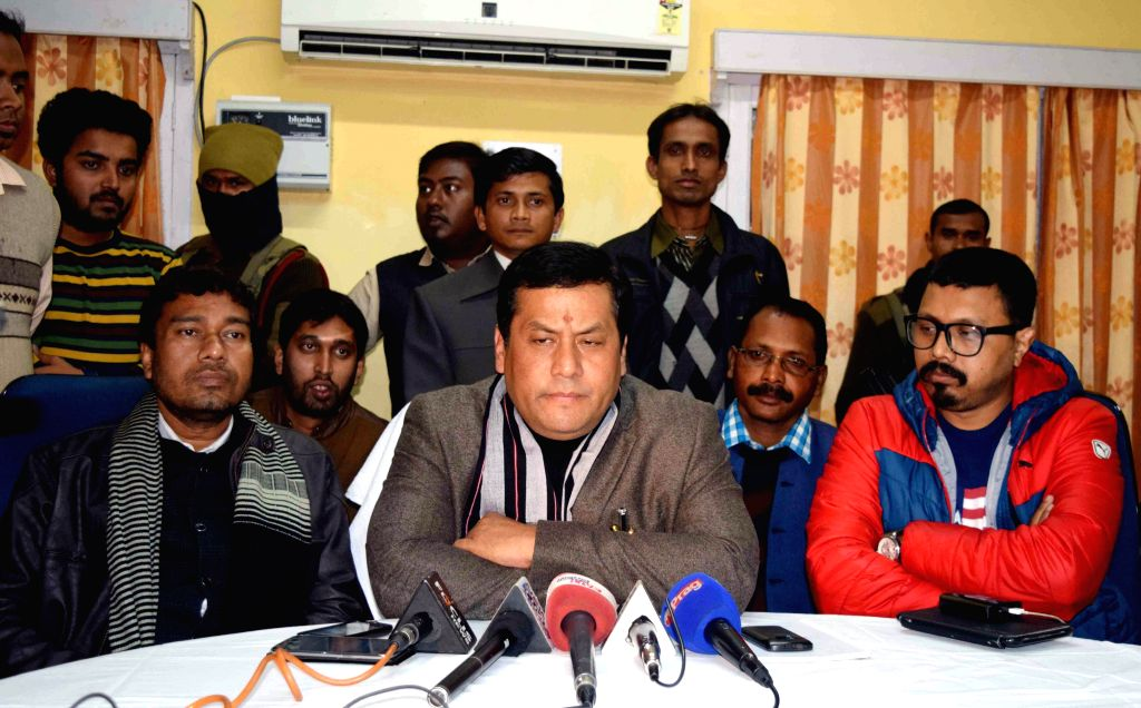 Union Minister of State for Sports and Youth Affairs Sarbananda Sonowal addresses press conference after taking stock of situation in Kokrajhar and Gosaigaon sub divisions of Kokrajhar district in ...