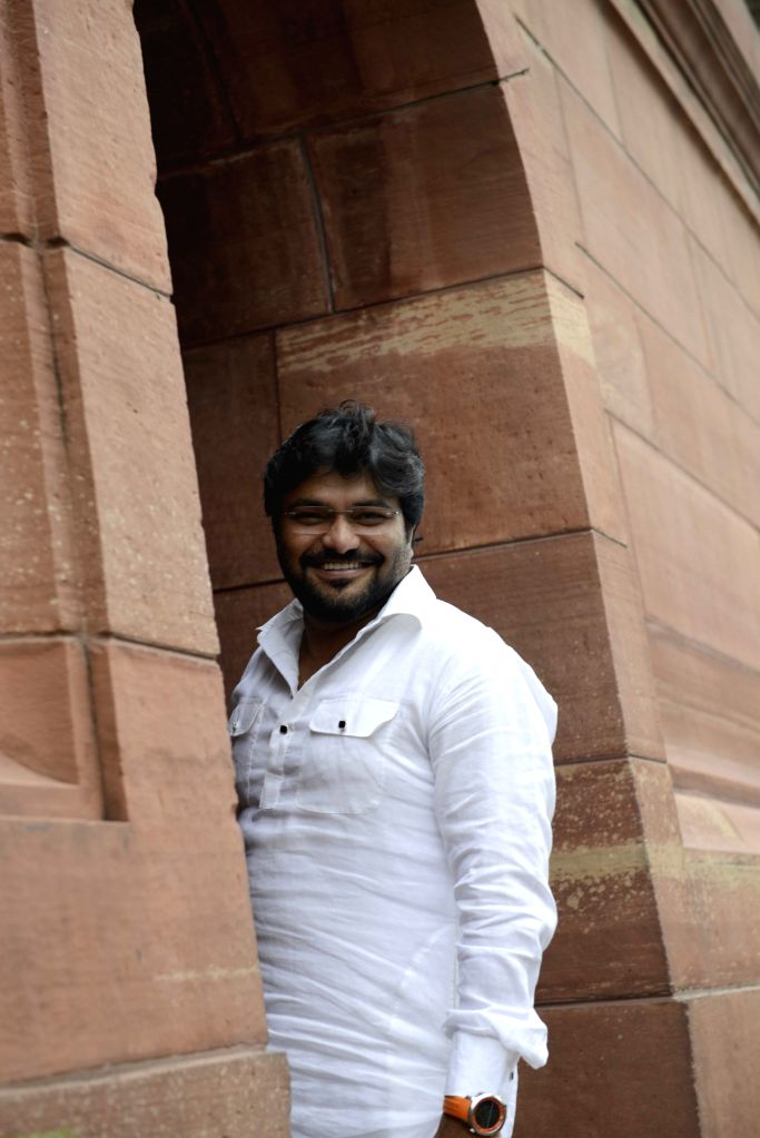 Union Minister of State for Urban Development, Housing and Urban Poverty Alleviation Babul Supriyo at the Parliament in New Delhi, on Aug 11, 2015.