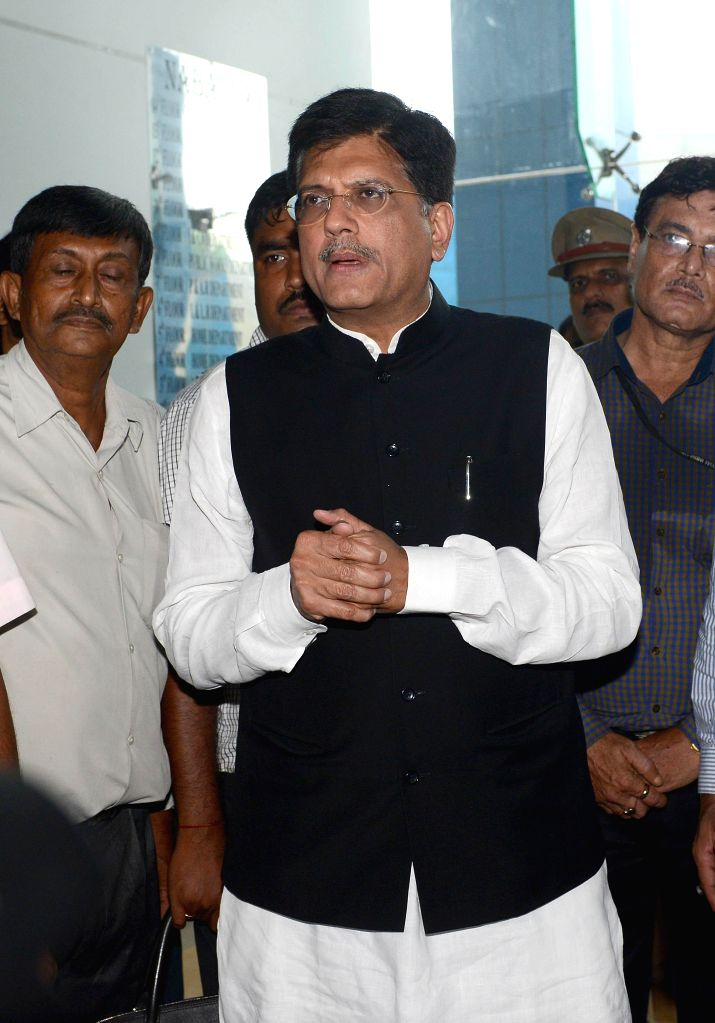 Union Minister of State with Independent Charge for Power, Coal and New and Renewable Energy Piyush Goyal arrives to meet West Bengal Chief Minister Mamata Banerjee at Nabanna in Howrah on June 19, ..