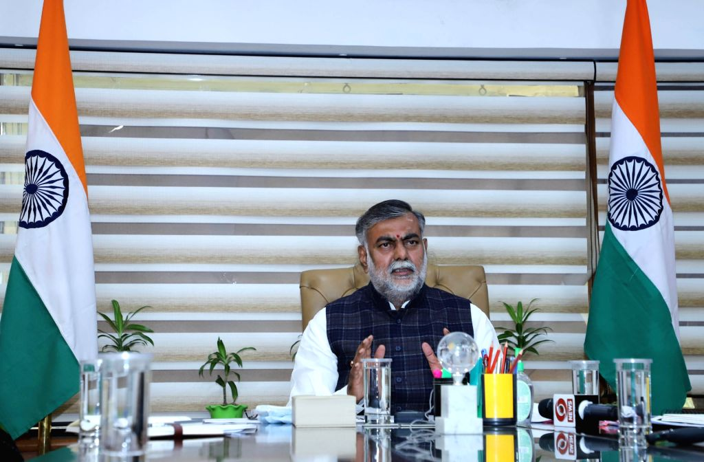 Union Minister Prahlad visits Red Fort to assess 'damage' (Photo: IANS/PIB) - Prahlad