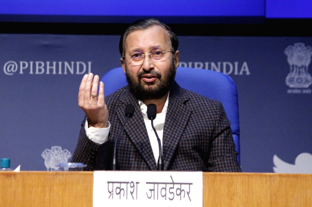 Union Minister Prakash Javadekar. (Photo: Qamar Sibtain/IANS) - Prakash Javadekar
