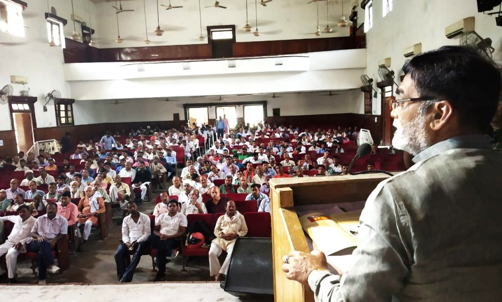 Union Minister Ram Kripal Yadav during a programme organsied in Patna on April 13, 2019. - Ram Kripal Yadav