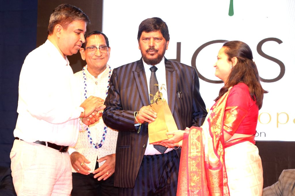 Union Minister Ramdas Athawale at the launch of Ambagopal Foundation Cancer Initiative on the occasion of World Cancer Day, in Mumbai on Feb 4, 2020. - Ramdas Athawale