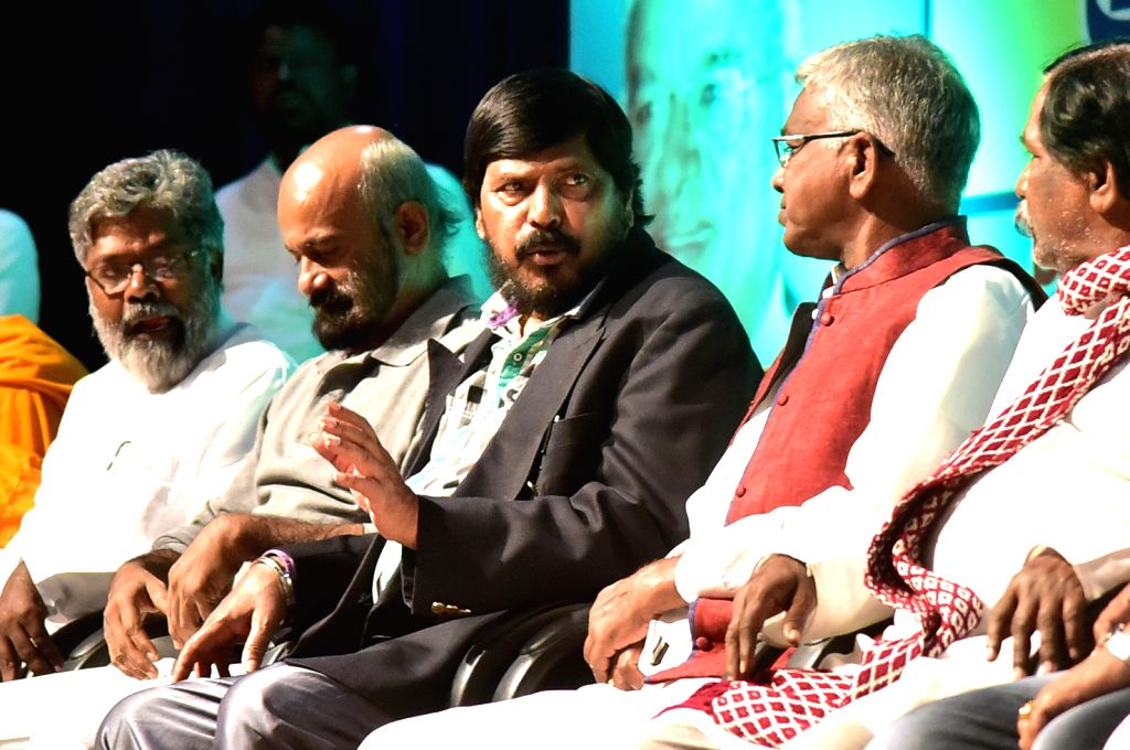 Union Minister Ramdas Athawale during a programme in Bengaluru on Oct 26, 2016. - Ramdas Athawale
