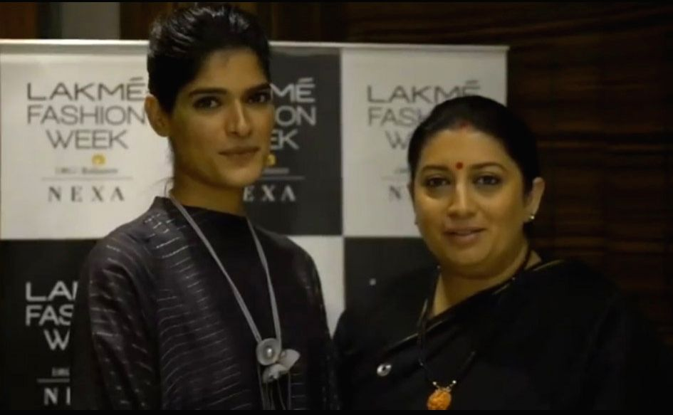 Union Minister Smriti Irani introduced a Rajasthani model named Nisha Yadav to the world at the just-concluded Lakme Fashion Week. Irani took to her Instagram, where she spoke about Yadav, a lawyer and a model from Rajasthan. In the video, she spoke  - Smriti Irani and Nisha Yadav