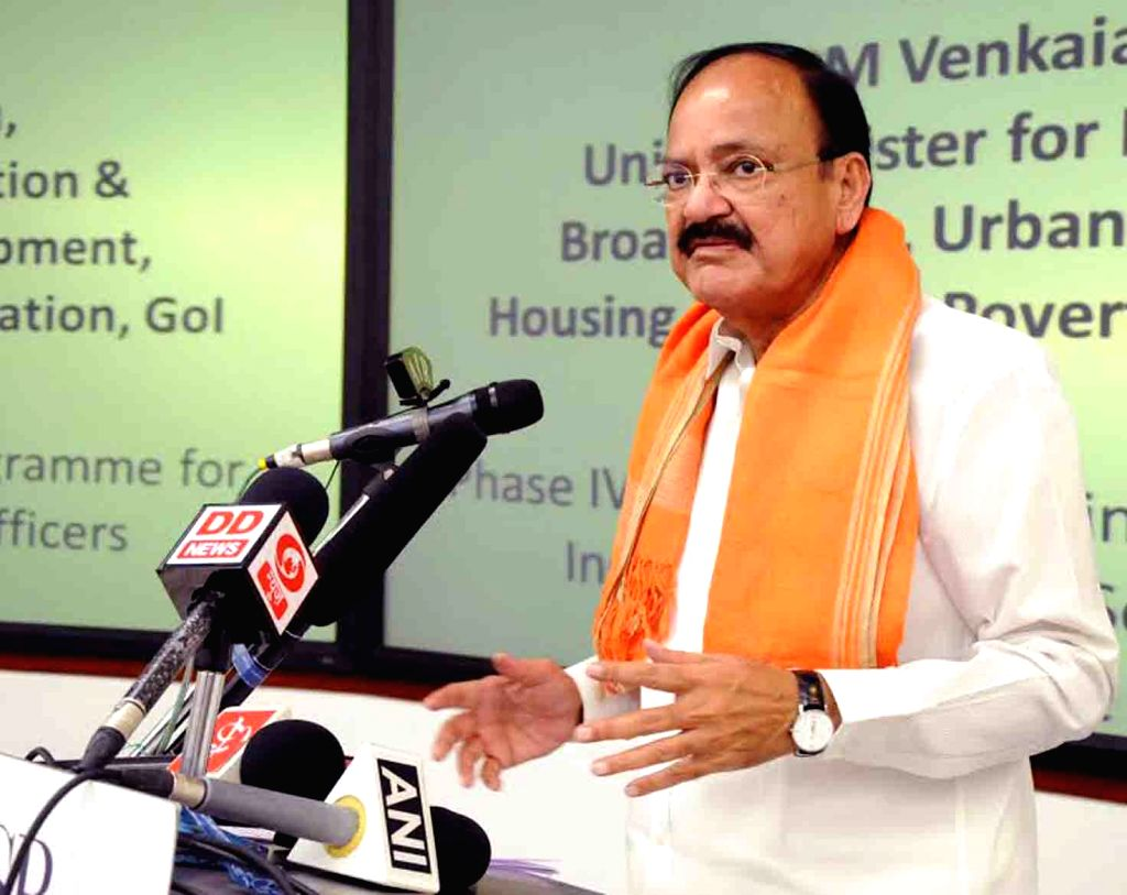 Union Minister Venkaiah Naidu during a programme organised at Indian School of Business (ISB) in Hyderabad, on June 1, 2017. - Venkaiah Naidu