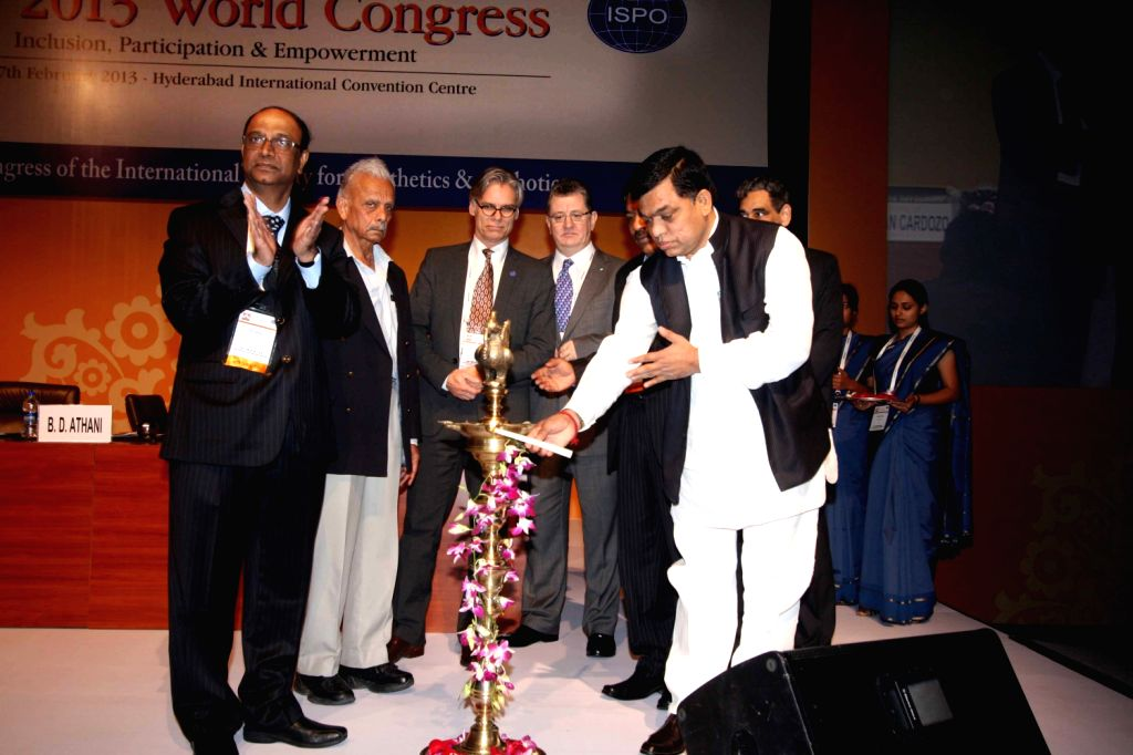 Union Minister with Independent Charge, Mr Balram Naik inaugurated the 14th World Congress of International Society for Prosthetics & Orthotics exhibition at Hyderabad International Convention ...