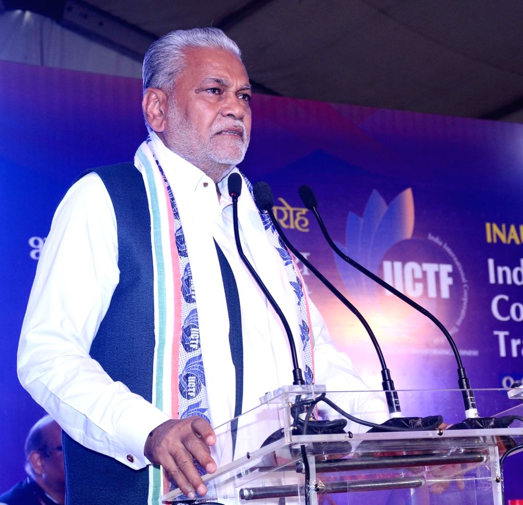 Union MoS Agriculture and Farmers Welfare Parshottam Rupala addresses at the inauguration of 'The First Ever India International Cooperatives Trade Fair' (IICTF) at Pragati Maidan, New ...