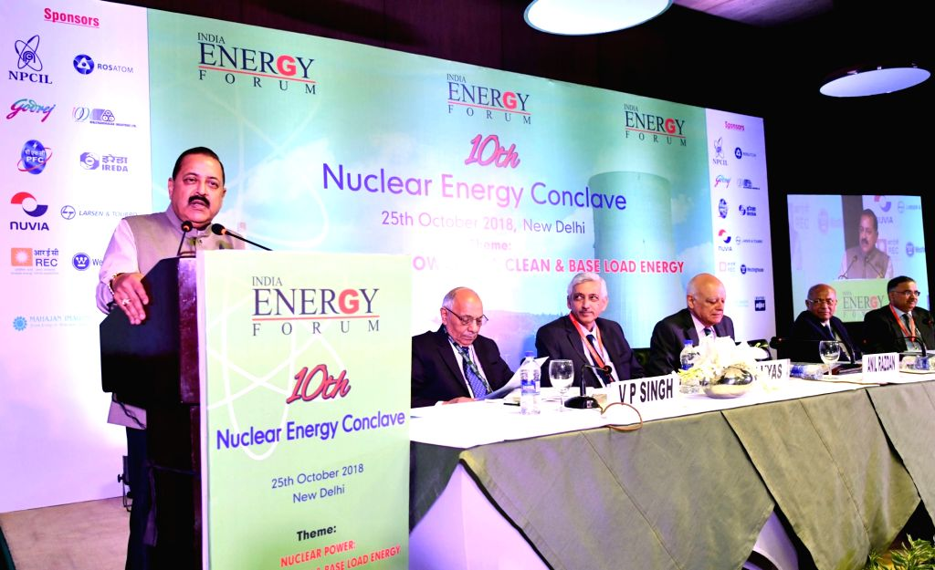 Union MoS Atomic Energy and Space Jitendra Singh addresses at the inauguration of 10th Nuclear Energy Conclave on the theme: 'Nuclear Power- Towards a Clean and Base Load Energy', in New ... - Jitendra Singh