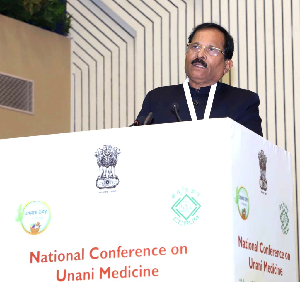 "Union MoS AYUSH Shripad Yesso Naik addresses at the National Conference on Unani Medicine ""Unani Medicine for Public Health"" organised by the Central Council for Research in ..."