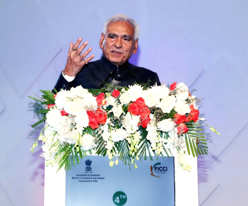 Union MoS Commerce and Industry C.R. Chaudhary addresses at the 4th India-ASEAN Expo and Summit 2019, in New Delhi, on Feb 22, 2019. - R. Chaudhary