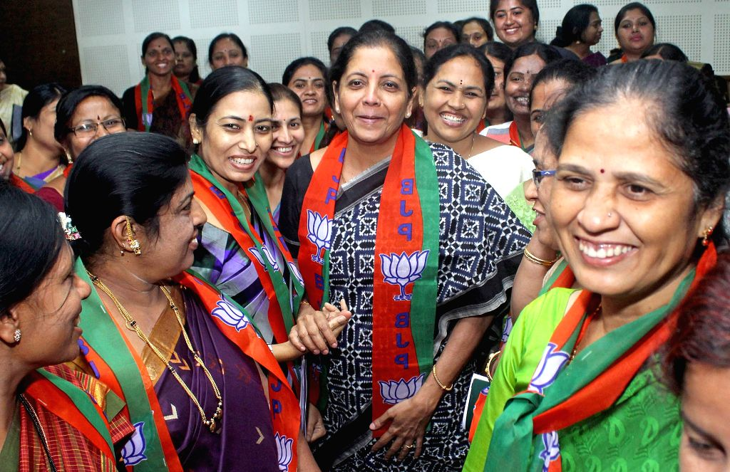 Union MoS Commerce and Industry Nirmala Sitharaman during inauguration Karnataka BJP Mahila Morcha Executive meeting in Bengaluru, on Sept 18, 2016.
