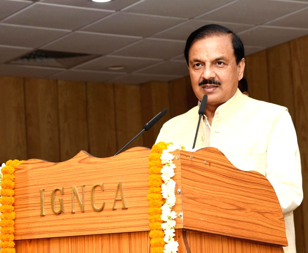 Union MoS Culture and Environment, Forest and Climate Change Mahesh Sharma addresses at the launch of books - 'Jewellery' (A scientific study of social tradition) by Gulab Kothari, ... - Change Mahesh Sharma and Gautam Chatterjee