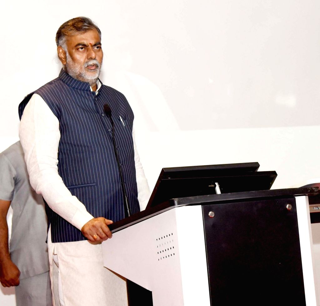 Union MoS Culture and Tourism (Independent Charge) Prahalad Singh Patel addresses at the inauguration of Exhibition cum E-auction of gifts presented to Prime Minister Narendra Modi, at ... - Narendra Modi and Prahalad Singh Patel