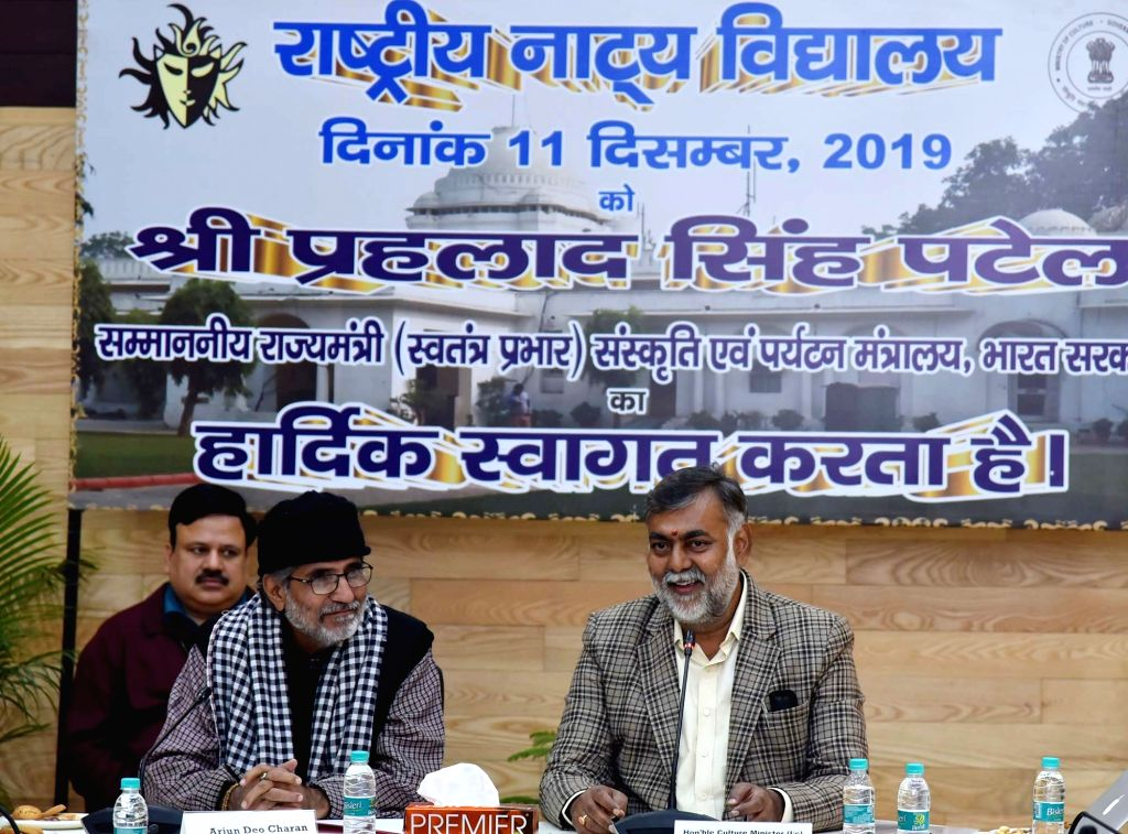 Union MoS Culture and Tourism (Independent Charge) Prahlad Singh Patel presides over the 146th Meeting of the National School of Drama Society, in New Delhi on Dec 11, 2019. - Prahlad Singh Patel