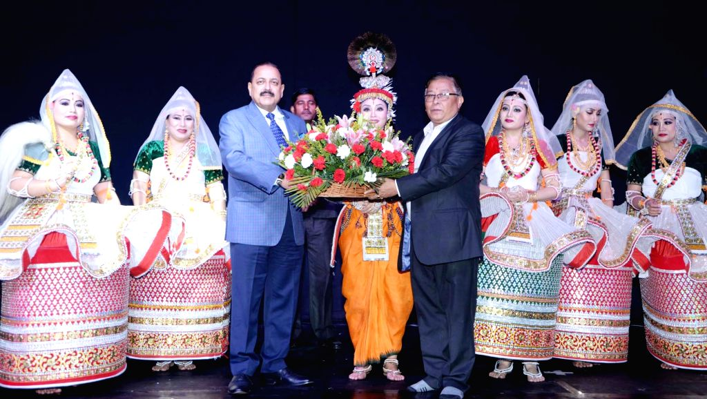Union Mos Development of North Eastern Region Jitendra Singh at the closing ceremony of the 'Experiencing North East' festival in New Delhi, on Oct 31, 2018.