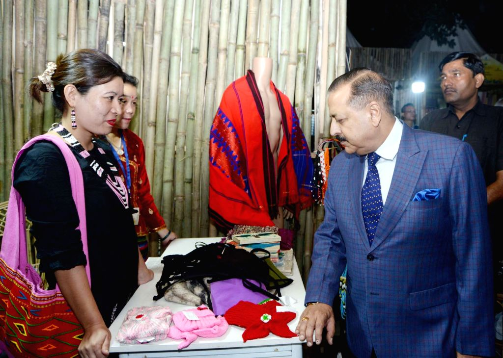 Union Mos Development of North Eastern Region Jitendra Singh during his visit to the 'Experiencing North East' festival in New Delhi, on Oct 31, 2018.