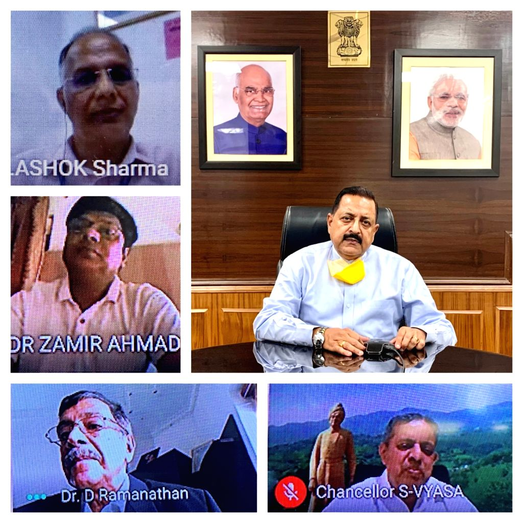 Union MoS Development of North Eastern Region (I/C), Prime Minister???s Office, Personnel, Public Grievances & Pensions, Atomic Energy and Space Jitendra Singh addresses a virtual meet ... - Jitendra Singh