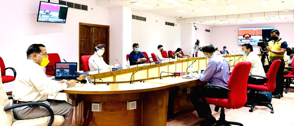 Union MoS Development of North Eastern Region (I/C), Prime Minister???s Office, Personnel, Public Grievances & Pensions, Atomic Energy and Space Jitendra Singh chairs a review meeting ... - Jitendra Singh