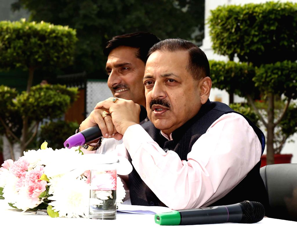 Union MoS Development of North Eastern Region (I/C), Prime Minister???s Office, Personnel, Public Grievances and Pensions, Atomic Energy and Space Jitendra Singh addresses a delegation of ... - Jitendra Singh