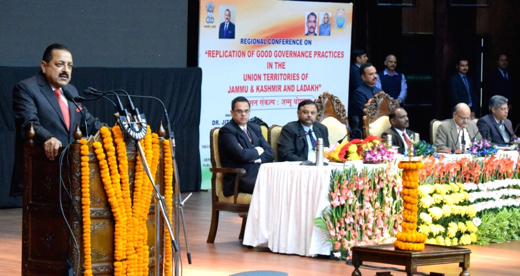 Union MoS Development of North Eastern Region (I/C), Prime Minister???s Office, Personnel, Public Grievances & Pensions, Atomic Energy and Space Jitendra Singh addresses at the ... - Jitendra Singh