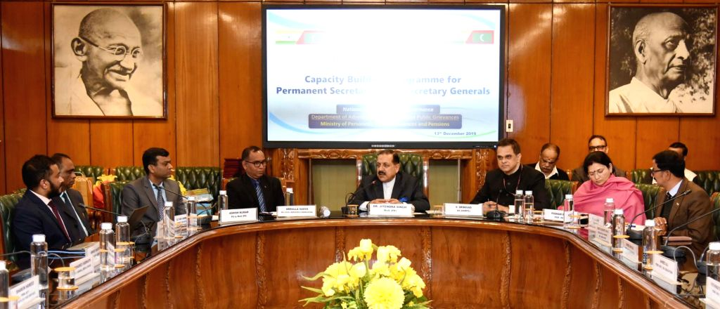 Union MoS Development of North Eastern Region (I/C), Prime Minister???s Office, Personnel, Public Grievances and Pensions, Atomic Energy and Space Jitendra Singh addresses at the ... - Jitendra Singh