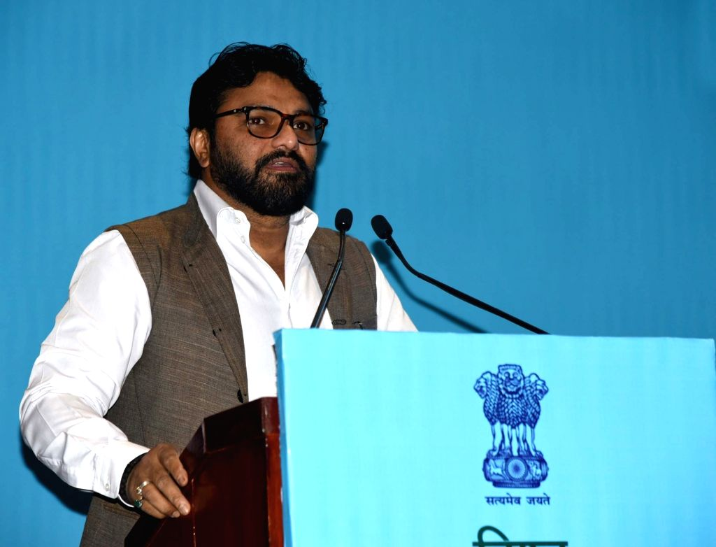 Union MoS Environment, Forest and Climate Change Babul Supriyo addresses at the inauguration of World Environment Day celebrations, in New Delhi on June 6, 2019.