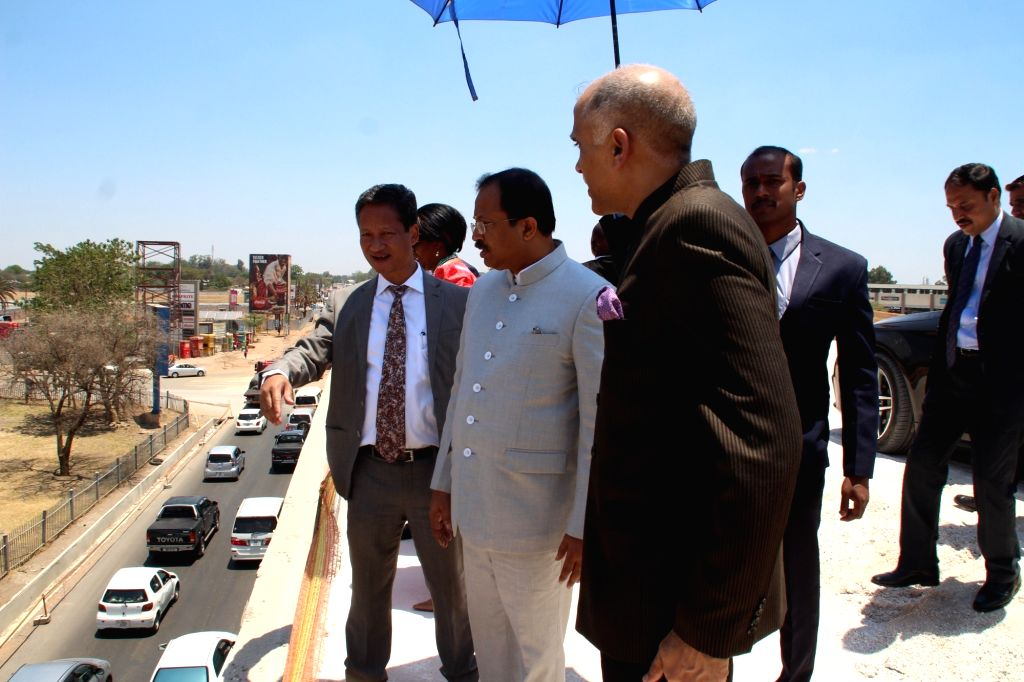 Union MoS External Affairs V. Muraleedharan pays an inspection visit to sites of Lusaka De-Congestion Project being executed by AFCONS Limited (Shapoorji Pallonji) with Government of India ...