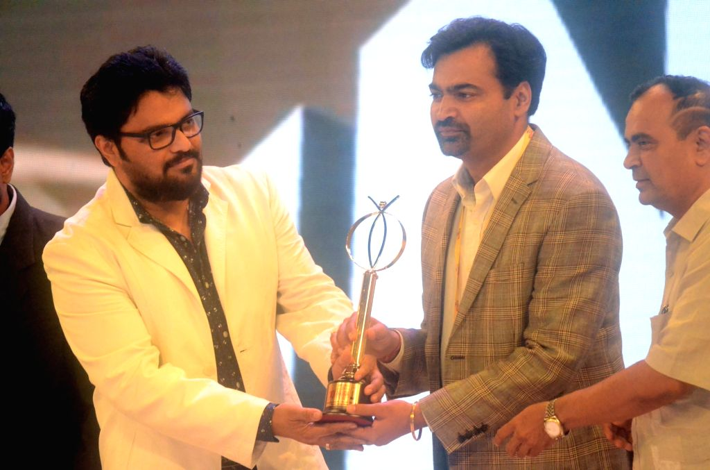 Union MoS for Heavy Industries and Public Enterprises Babul Supriyo during the CNBC Award function in Mumbai on Feb 8, 2018.