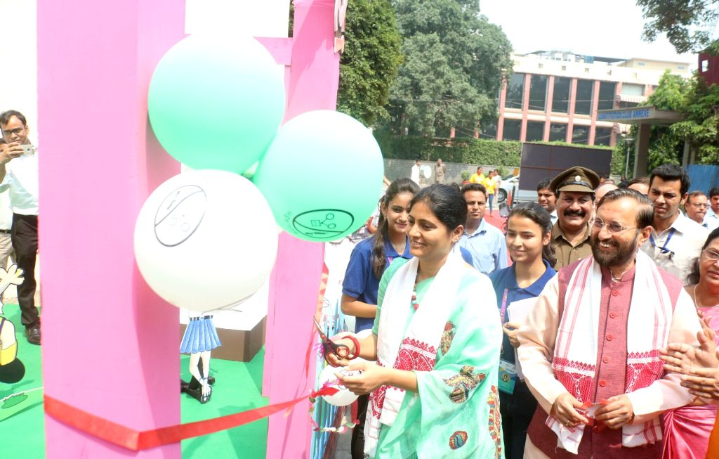 Union MoS Health and Family Welfare Anupriya Patel inaugurates the 'National Wash Champions Conclave' in New Delhi on Sept 19, 2017. Also seen Union Human Resource Development (HRD) ... - Prakash Javadekar and Welfare Anupriya Patel