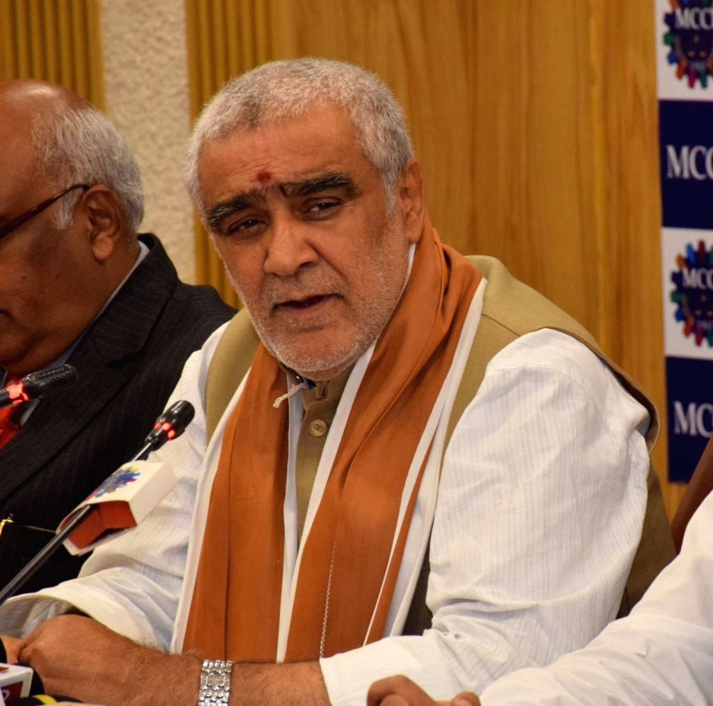 """Union MoS Health and Family Welfare Ashwini Kumar Choubey during an interactive session on """"Health and Family Welfare: Recent Trends & Road Ahead"""" at the Merchant Chamber of ..."""