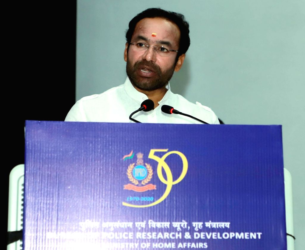 "Union MoS Home Affairs G. Kishan Reddy addresses at the inauguration of a two-day National Conference on ""Criminal Activities and Radicalization in jails: Vulnerability of Inmates and ..."